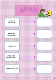 English Worksheets: draw the animals