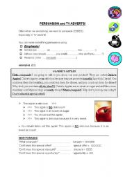 English Worksheet: TV Advert - Persuasion