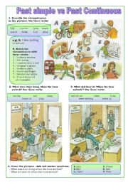 English Worksheet: Simple past vs past continuous
