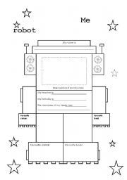 english worksheets me robot. Black Bedroom Furniture Sets. Home Design Ideas