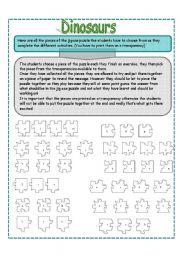 English Worksheets: DINOSAURS PART 5