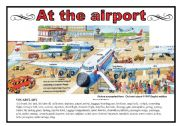 English Worksheet: At the airport (2 pages)
