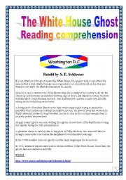 English Worksheets: The White House Ghost (Reading project) (10 pages)