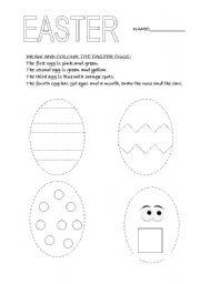 english worksheets easter eggs. Black Bedroom Furniture Sets. Home Design Ideas