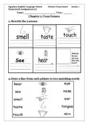 5 senses esl worksheet by sunfora. Black Bedroom Furniture Sets. Home Design Ideas