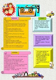 English Worksheet: RIDDLES AND JOKES