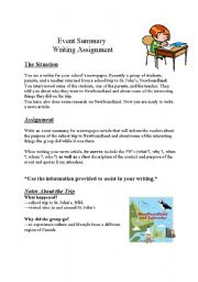 English Worksheets: Event summary