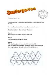 English Worksheets: Scattergories (20 sided-die)