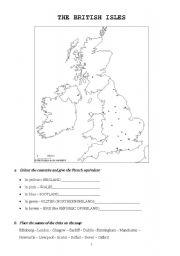 English Worksheet: UK & US geography