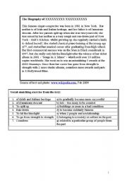 English Worksheets: Alicia Keys - Unbreakable - Biography and song gap-fill