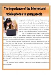 The importance of the internet and mobile phones to young people