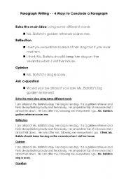 English teaching worksheets: Paragraphs