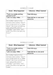 English Worksheet: Making Inferences - Peter�s Chair by Ezra Jack Keats
