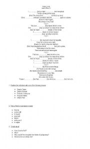 English worksheet: This love by Maron Five