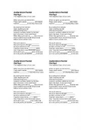 English Worksheet: music: Another Brick in the wall