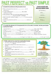 English Worksheet: past perfect vs. past simple