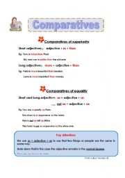 English Worksheet: Comparatives of superiority and equality - transparency