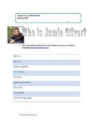 English Worksheet: Who is Jamie Oliver?