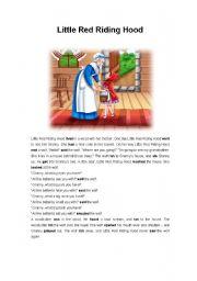 Little Red Riding Hood Esl Worksheet By Vana