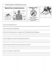 English Worksheets: Dengue Fever