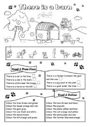 English Worksheet: There is a barn (1)