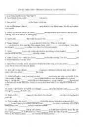 English teaching worksheets: Past simple/present perfect