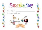 English Worksheet: pancake race
