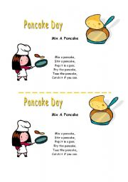 English Worksheet: Pancake song