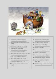 English Worksheets: There �s / There are
