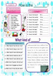 Pair work conversation sheet using adjectives2