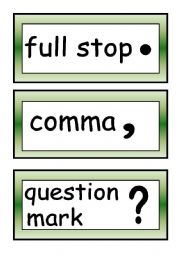 Punctuation marks.