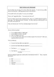 English worksheet: Turtle and the Hare