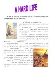 English Worksheet: A Hard Life - Huckleberry Finn