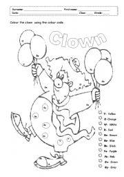 colour the clown