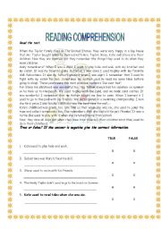 English Worksheets: Used to (reading)