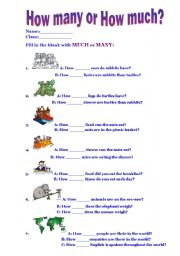 english teaching worksheets how much how many. Black Bedroom Furniture Sets. Home Design Ideas