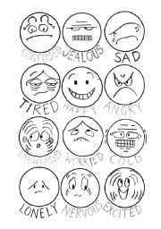 graphic relating to Emotion Faces Printable referred to as How do yourself come to feel? - Faces of thoughts - ESL worksheet through krmjohns