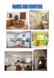 English worksheet: House and Furniture Vocabulary