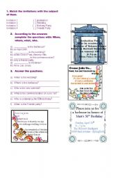 English Worksheets: Invitations