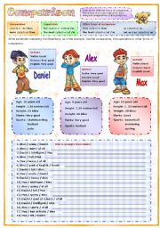 English Worksheets: Comparison