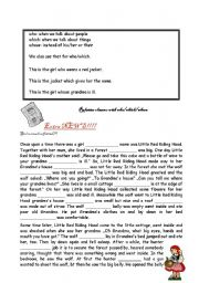 English Worksheets: relative clauses who, which, whose
