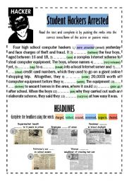 English Worksheets: CRIME (+keys)