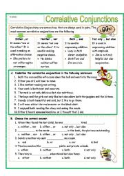 English Worksheet: Correlative Conjunctions