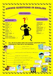 English Worksheets: ASKING QUESTIONS IN ENGLISH