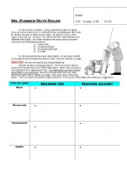 English Worksheets: Mr. Bunker Buys Bulbs