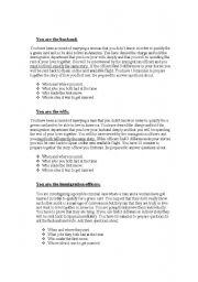 English Worksheet: Green Card (based on ´Alibi´) Roleplay Game