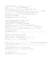 English Worksheet: missing words - Bryan Adams