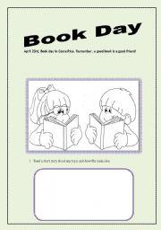 English Worksheet: BOOK DAY