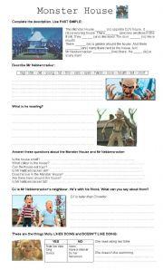 English Worksheets: monster house