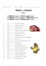English Worksheets: There is / are practice